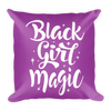 Purple Black Girl Magic Square Pillow - Chocolate Ancestor