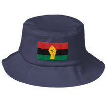 Load image into Gallery viewer, Chocolate Ancestor, LLC- RBG Flag w/ Yellow Fist Old School Bucket Hat ${varant_title} Bucket Hat