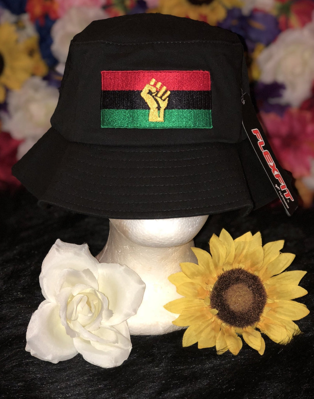 Chocolate Ancestor, LLC- RBG Flag w/ Yellow Fist Old School Bucket Hat ${varant_title} Bucket Hat