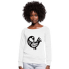 Sankofa Bird Women's Wideneck Sweatshirt - Chocolate Ancestor