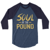 Soul by the Pound 3/4 sleeve raglan unisex shirt - Chocolate Ancestor