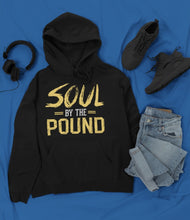Load image into Gallery viewer, Chocolate Ancestor, LLC- Soul by the Pound Unisex Hooded Sweatshirt ${varant_title} unisex hoodie