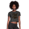 Black Business Owner Women's Crop Top (Style 2) - deep heather