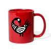 Sankofa Bird Full Color Mug - red