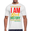 I Am Black History Moisture Wicking Performance T-Shirt - white