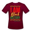 I Am Black History Moisture Wicking Performance T-Shirt - burgundy