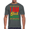 I Am Black History Moisture Wicking Performance T-Shirt - charcoal