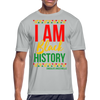 I Am Black History Moisture Wicking Performance T-Shirt - silver