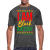 I Am Black History Moisture Wicking Performance T-Shirt - dark heather gray