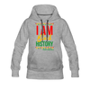 I Am Black History Women's Premium Hoodie - heather gray