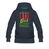 I Am Black History Women's Premium Hoodie - navy