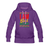 I Am Black History Women's Premium Hoodie - purple