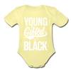 Young Gifted & Black Organic Short Sleeve Baby Bodysuit - washed yellow