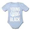 Young Gifted & Black Organic Short Sleeve Baby Bodysuit - sky