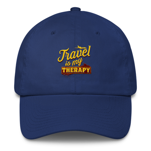 Chocolate Ancestor, LLC- Travel is my Therapy Cotton Cap ${varant_title}