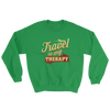 Travel is My Therapy Unisex Sweatshirt - Chocolate Ancestor