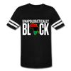 Unapologetically Black Pan African RBG Vintage Sport Unisex T-Shirt - Chocolate Ancestor