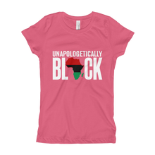 Load image into Gallery viewer, Chocolate Ancestor, LLC- Unapologetically Black RBG Girl's T-Shirt ${varant_title}