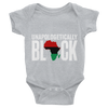 Unapologetically Black RBG Infant Bodysuit - Chocolate Ancestor