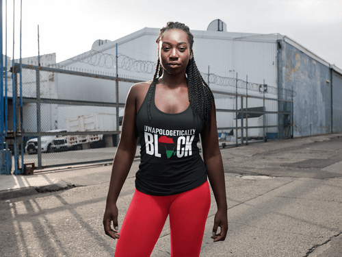 Chocolate Ancestor, LLC- Unapologetically Black RBG Pan African Unisex Tank Top ${varant_title}