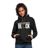 Unapologetically Black RBG Unisex Contrast Hoodie - Chocolate Ancestor