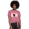 Unapologetically Black RBG Women's Knotted T-Shirt - Chocolate Ancestor