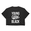 Young Gifted & Black Ladies' Crop Top - Chocolate Ancestor
