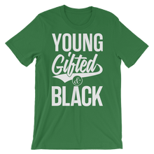 Load image into Gallery viewer, Young Gifted & Black Unisex short sleeve t-shirt - Chocolate Ancestor