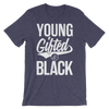 Young Gifted & Black Unisex short sleeve t-shirt - Chocolate Ancestor