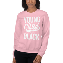Load image into Gallery viewer, Chocolate Ancestor, LLC- Young Gifted & Black Unisex Sweatshirt ${varant_title} Unisex Sweatshirt