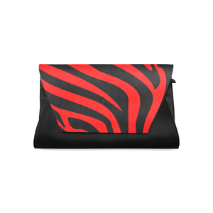 Chocolate Ancestor, LLC- Zebra Stripes Leather Clutch Bag ${varant_title} Leather Clutch Bag