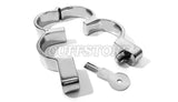Irish-8 Stainless Steel HandCuffs with Snap Shut Hamburg Quick Release Lock 126-SS