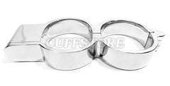 Stainless Steel High Security Irish 8 Quick Snap Shut Handcuffs with Extra Key 131-SS