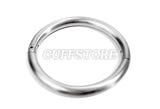 Brushed Stainless Steel Elliptical Handcuffs Bondage Wrist Restraint 2016-BR