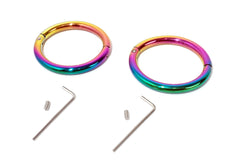 Elliptical Rainbow Handcuffs Wrist Restraint Fetish Bracelet Cuffs 2016-RAINBOW