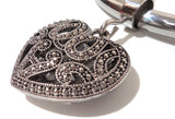 Silver Filigree Heart Pendant for 899 Collars and 2041 Wire Collars