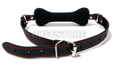 Bondage Silicone Dog Bone Mouth Gag Harness 2051-CS - Available Colors: Black, Pink & Red