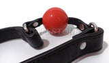 Adjustable Bondage Silicone Mouth Ball Gag Harness (Colors: Red, Black or Pink)