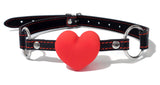 Heart Shaped Silicone Open Mouth Gag
