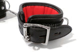 Black & Red Leather Handcuff & Legcuffs Bundle
