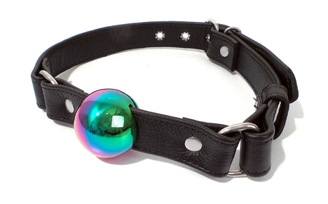 Rainbow Stainless Steel Ball Gag