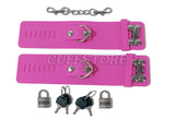 Soft Silicone Handcuffs - Available Colors: Pink & Red