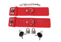 Soft Silicone Handcuffs - Available Colors: Black, Pink & Red