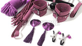 10 Piece Complete Purple Bondage Kit