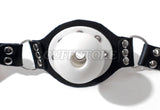 Breathable Open Mouth Ball Gag with Padlock