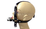 Lockable Open Mouth Ball Gag Leather Harness