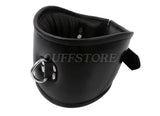Deluxe Padded Black Leather Posture Collar
