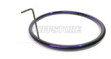 Purple Eternity Style Stainless Steel Locking Collar 899-A-PC