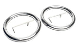 Stainless Steel Oval Handcuffs with Allen Drive Key KB-897 Multiple Sizes