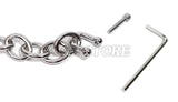 "7"" Chain Link with Allen Key for Bondage Handcuffs and Leg Iron Restraints"